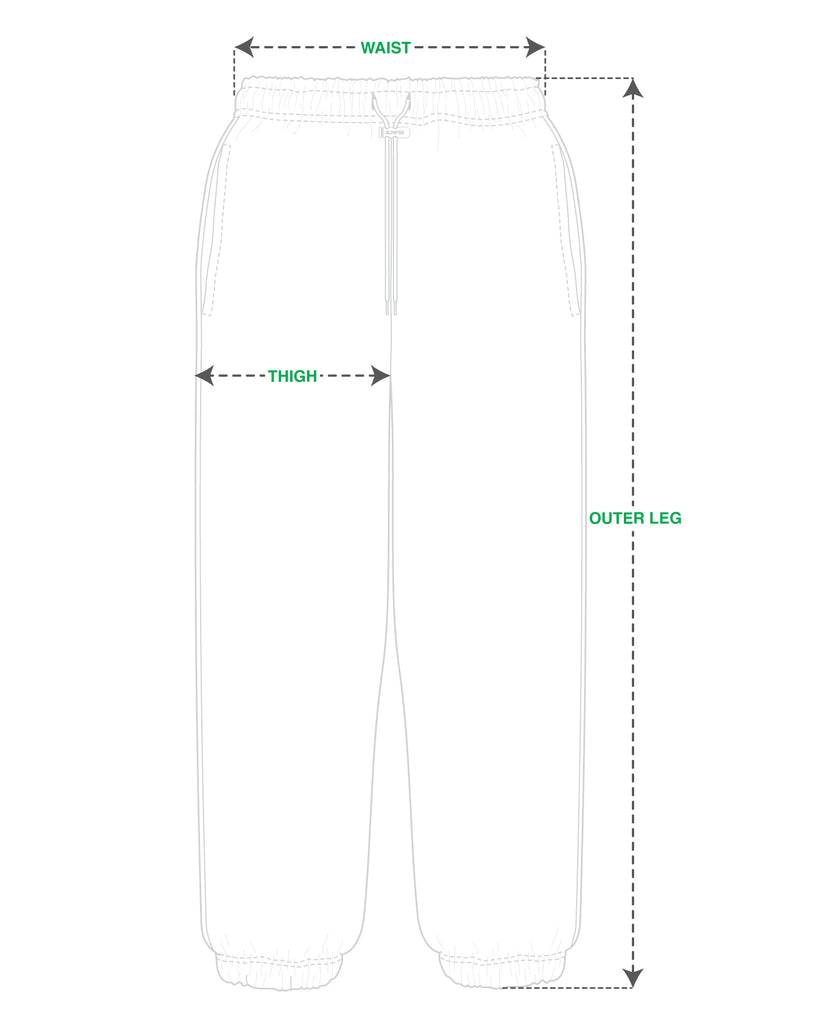 ICHPIG® Pigasus Cord Lock Track Pants Size Guide