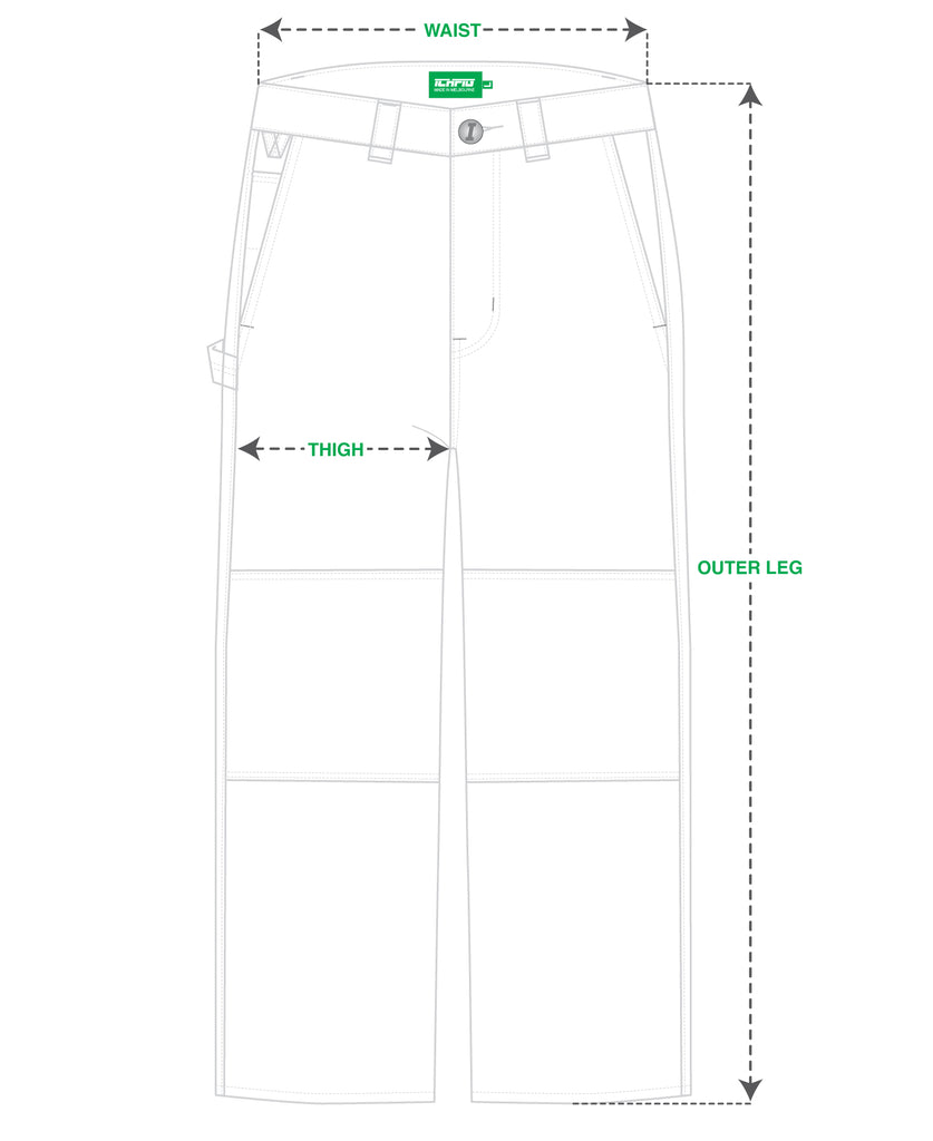 ICHPIG® Workers Canvas Pants Size Guide