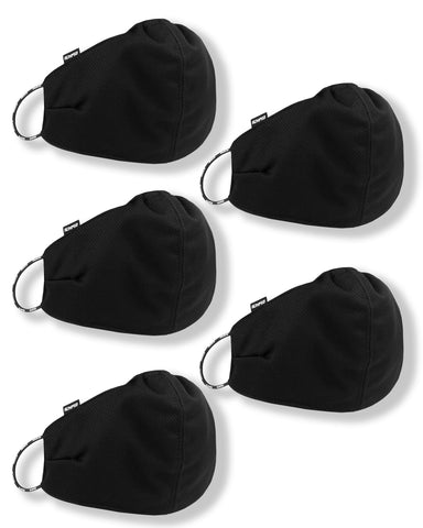 5 x Mesh Face Guard Pack - Black