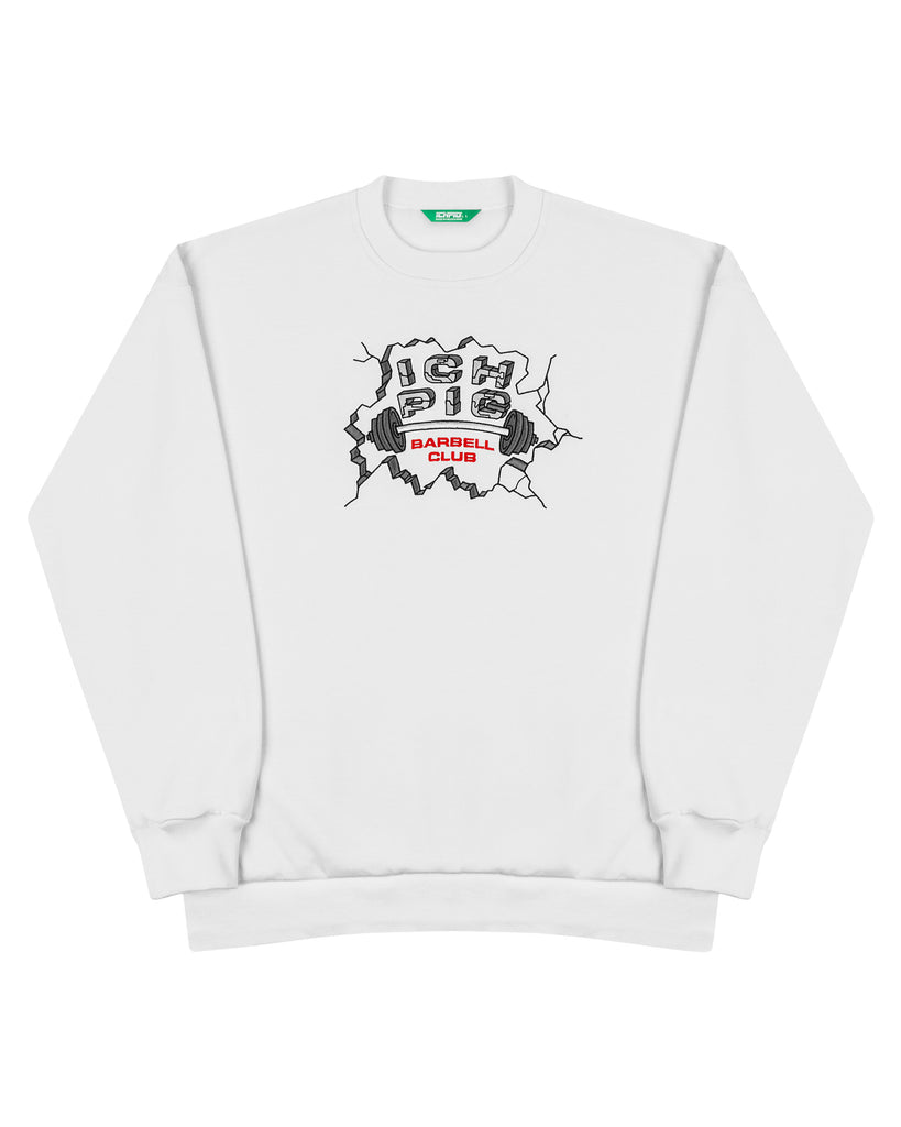 Barbell Box90 Crew - White