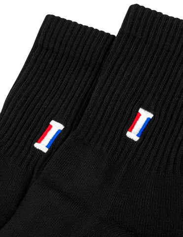 Flag Crew Socks - Black
