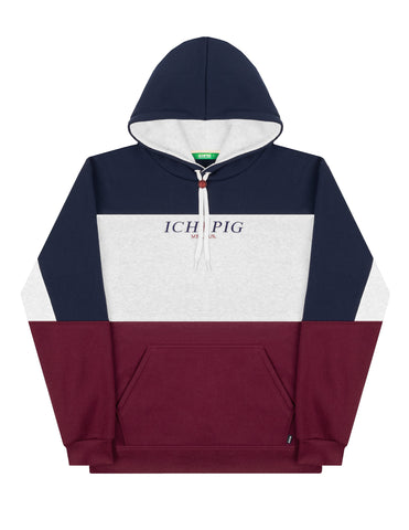Frontier Panel Hood - Navy / White Marle / Dark Maroon