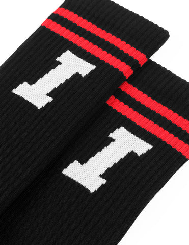 Icon Calf Socks - Black / Red / White