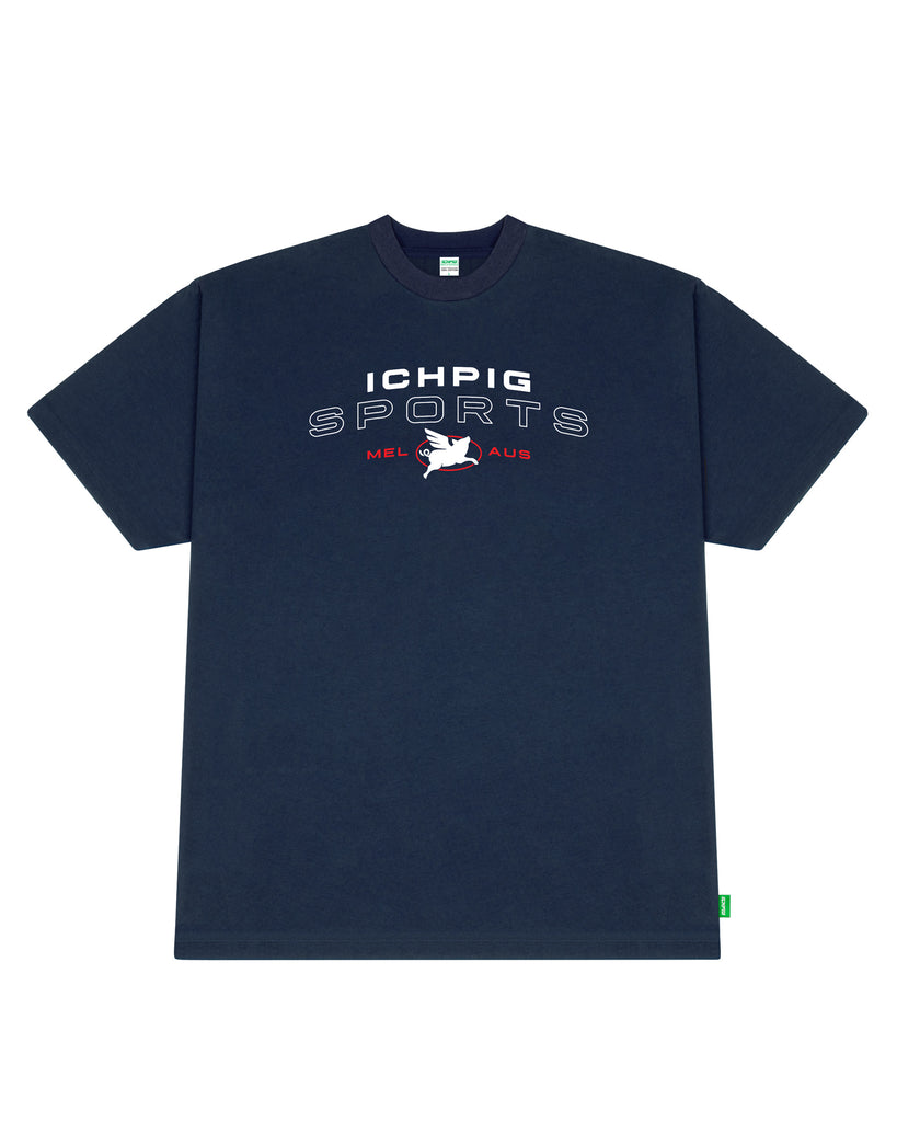 Pigasus Sports Tee - Navy