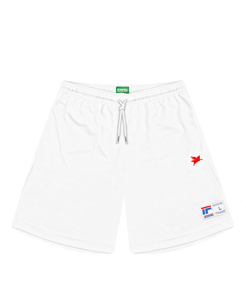 Pigasus Warm Up Shorts - Astro White
