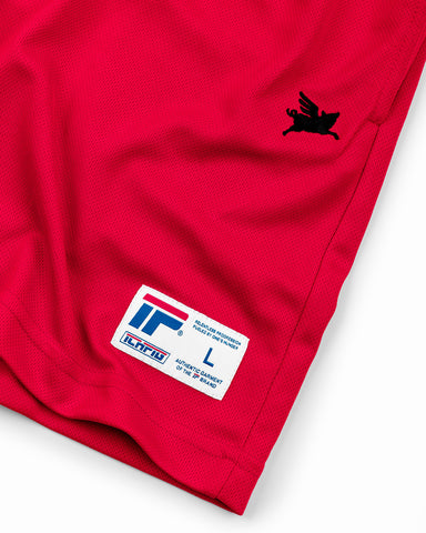 Pigasus Warm Up Shorts - Sports Red