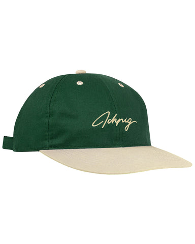 Pitchers Script Hat - Forest / Camel