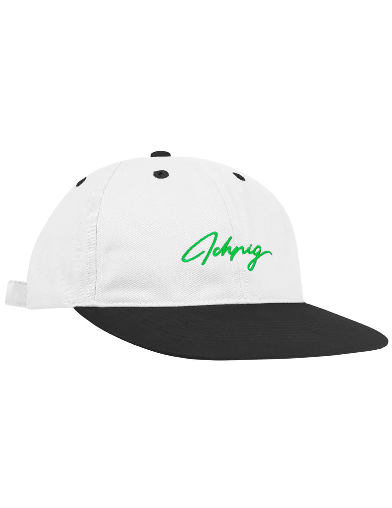 Pitchers Script Hat - White / Black