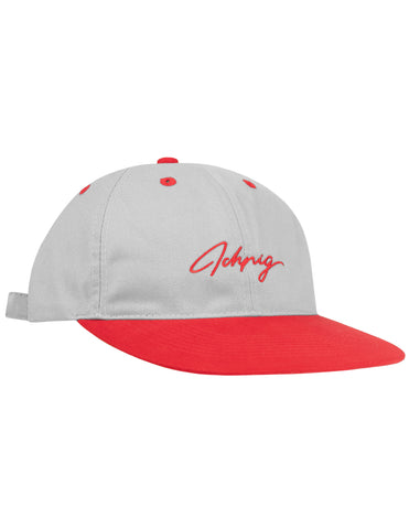 Pitchers Script Hat - Grey / Red