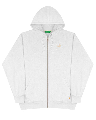 Zipper Box90 Hood - White Marle