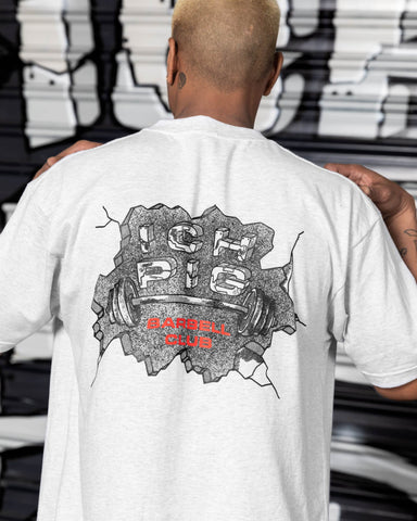 Barbell Club Tee - White Marle