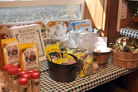 gift baskets and pancake flour