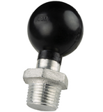 "RAM-207U RAM Mounts C Size 1.5"" Ball with 1/2"" NPT Male Threaded Post -  - RAM Mounts - Synergy Mounting Systems - RAM Mounts Authorized Dealer"