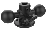 "RAM-217U RAM Mounts 1.5"" Double Ball Adapter with 2.5"" Round Base -  - RAM Mounts - Synergy Mounting Systems - RAM Mounts Authorized Dealer"