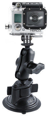 RAM-B-166-A-GOP1U RAM Mounts Suction Cup and Arm Kit with GoPro Hero Adapter -  - RAM Mounts - Synergy Mounting Systems - RAM Mounts Authorized Dealer