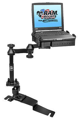 RAM-VB-190-SW1 RAM Mounts No-Drill Laptop Mount for the Ford Police Interceptor Sedan-RAM Mounts - Synergy Mounting Systems