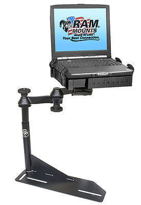 RAM-VB-117-SW1 RAM Mounts No-Drill Laptop Mount for the Chevrolet Camaro, Caprice, Ford Crown Victoria Police Interceptor & Lincoln Town Car -  - RAM Mounts - Synergy Mounting Systems - RAM Mounts Authorized Dealer