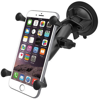 RAM-B-166-UN10U RAM Mounts Suction Cup Mount with Large Phone / Phablet X-Grip -  - RAM Mounts - Synergy Mounting Systems - RAM Mounts Authorized Dealer