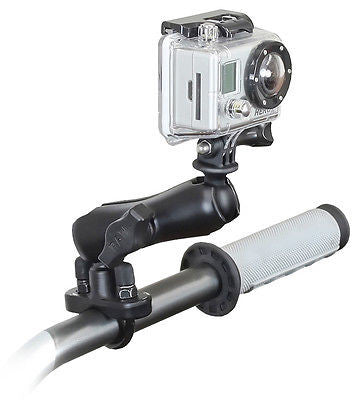 "RAM-B-149Z-GOP1U RAM Handlebar Rail Mount U-Bolt & 1"" Ball w/ GoPro Hero Adapter -  - RAM Mounts - Synergy Mounting Systems - RAM Mounts Authorized Dealer"
