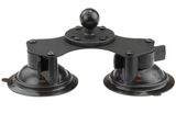 RAM-B-189B-202U RAM Mounts Twist-Lock Dual Suction Cup Base with 1-Inch Ball -  - RAM Mounts - Synergy Mounting Systems - RAM Mounts Authorized Dealer