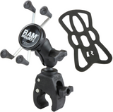 RAM-B-400-A-HOL-UN7BU RAM Mounts X-Grip® Phone Mount with RAM® Tough-Claw™ Small Clamp Base -  - RAM Mounts - Synergy Mounting Systems - RAM Mounts Authorized Dealer