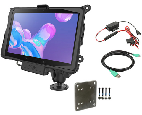 RAM-101-B-SAM52P-V7BU RAM Powered Mount for Samsung Tab Active Pro with Backing Plate