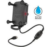 RAM-HOL-UN12WB RAM Tough-Charge™ with X-Grip® Tech Waterproof Wireless Charging Holder -  - RAM Mounts - Synergy Mounting Systems - RAM Mounts Authorized Dealer
