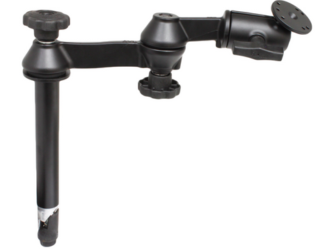 "RAM-VP-SW1-8 RAM Mounts 8"" Upper Pole with Double Swing Arms & Round Plate -  - RAM Mounts - Synergy Mounting Systems - RAM Mounts Authorized Dealer"