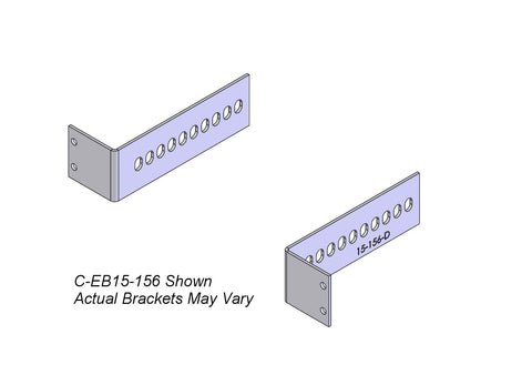 "Havis C-EB15-118 2-Piece Equipment Mounting Bracket, 1.5"" Mounting Space, 1.18"" Bend"
