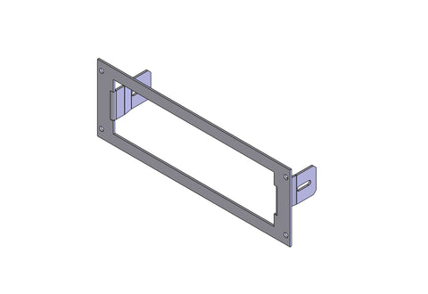 "Havis C-EB30-EFR-1P 1-Piece Equipment Mounting Bracket, 3"" Mounting Space, Fits E.F. Johnson Ascend/Summit Radio, 53SL"