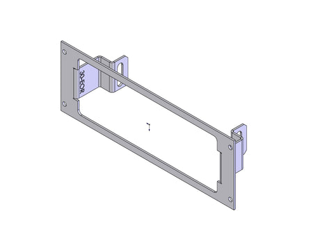 "Havis C-EB30-EOR-1P 1-Piece Equipment Mounting Bracket, 3"" Mounting Space, Fits M/A-COM M-7100, M/A-COM / Com-Net/ Ericsson/ GE Orion 2 Pc."
