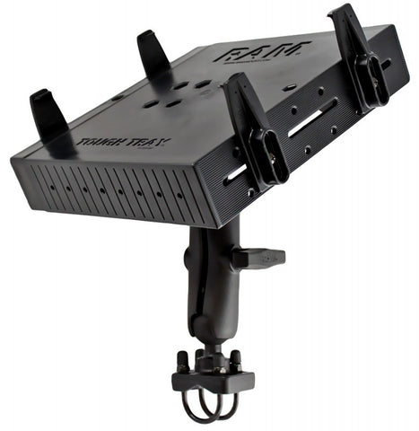 "RAM-101-DAN1U RAM Mounts C Size 1.5"" Rail Mount with Double U-Bolt Base, Medium Length Double Socket Arm & Universal Laptop Tough-Tray Cradle -  - RAM Mounts - Synergy Mounting Systems - RAM Mounts Authorized Dealer"