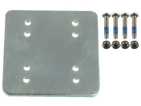 "RAM-202-225BU RAM Mounts 3 x 3 Backer Plate w/ AMPS and 1.5"" x 2"" Hole Patterns with Hardware-RAM Mounts - Synergy Mounting Systems"