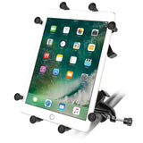 "RAM-B-121-UN9U RAM Mounts Yoke Clamp Mount with Universal X-Grip® Cradle for 10"" Large Tablets-RAM Mounts - Synergy Mounting Systems"