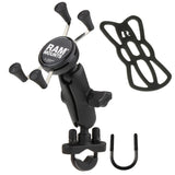 RAM-B-149Z-UN7U RAM Mounts X-Grip Universal Handlebar Rail Mount w/ U-Bolt-RAM Mounts - Synergy Mounting Systems