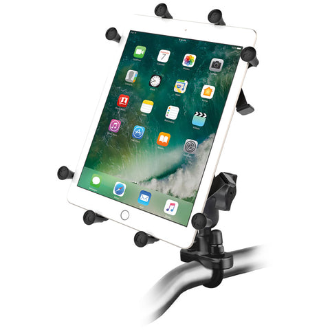 "RAM-B-149Z-UN9U RAM Mounts Handlebar U-Bolt Mount with Universal RAM® X-Grip® Cradle for 10"" Large Tablets -  - RAM Mounts - Synergy Mounting Systems - RAM Mounts Authorized Dealer"