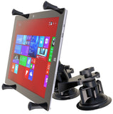 "RAM-B-189-PIV1-UN11U RAM Mounts Dual Articulating Suction Cup with Medium Length Double Socket Arm and Universal RAM® X-Grip® Cradle for 12"" Large Tablets-RAM Mounts - Synergy Mounting Systems"