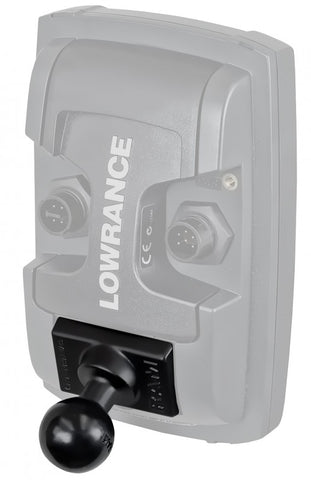 "RAM-B-202U-LO11 RAM Mounts Quick Release Adapter with B Size 1"" Ball for ""LIGHT USE"" Lowrance Elite-4 & Mark-4 Series Fishfinders -  - RAM Mounts - Synergy Mounting Systems - RAM Mounts Authorized Dealer"