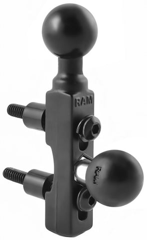 "RAM-B-309-2U RAM Mounts Motorcycle Brake/Clutch Reservoir Base with (2 Quantity) 1"" Balls -  - RAM Mounts - Synergy Mounting Systems - RAM Mounts Authorized Dealer"