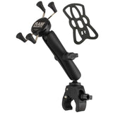 RAM-B-400-C-UN7U RAM Mounts Small Tough-Claw Base with Long Double Socket Arm and Universal RAM® X-Grip® Cell/iPhone Cradle-RAM Mounts - Synergy Mounting Systems