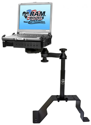 RAM-VB-107-SW1 RAM Mounts No-Drill Laptop Mount for OLDER Chevrolet Caprice & Ford Crown Victoria Police Interceptor -  - RAM Mounts - Synergy Mounting Systems - RAM Mounts Authorized Dealer