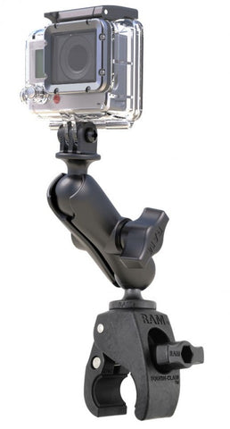 RAP-B-400-GOP1U RAM Mounts Small Tough-Claw with Custom GoPro®/Action Camera Adapter-RAM Mounts - Synergy Mounting Systems
