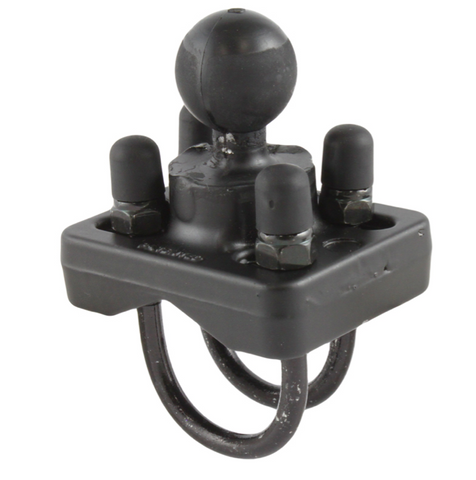 RAM-B-235U RAM Mounts 1 Inch Ball with Double U-Bolt Base for 1 - 1.25 Inch Rails -  - RAM Mounts - Synergy Mounting Systems - RAM Mounts Authorized Dealer