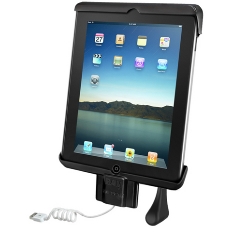 RAM-HOL-TABDL7U RAM Dock-N-Lock Spring Loaded Holder for Apple iPad 2 / iPad 3 -  - RAM Mounts - Synergy Mounting Systems - RAM Mounts Authorized Dealer
