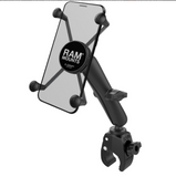 RAM-B-400-C-UN10U RAM X-Grip® Large Phone Mount with Long Arm & Tough-Claw™ Small Clamp Base