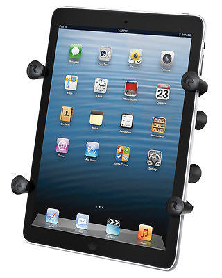 "RAM-HOL-UN8BU RAM Mounts Universal X-Grip II 7"" Tablet Holder Cradle w/ 1"" Ball-RAM Mounts - Synergy Mounting Systems"