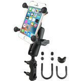 RAM-B-174-UN7U RAM Mounts Combination Brake/Clutch Reservoir U-Bolt Mount with Universal X-Grip® Cell/iPhone Holder -  - RAM Mounts - Synergy Mounting Systems - RAM Mounts Authorized Dealer
