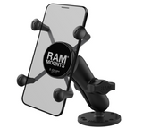 RAM-B-138-UN7U RAM Mounts Small X-Grip® Phone Mount with Drill-Down Base