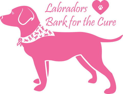 Labrador Bark for the Cure Love The Breed dot com