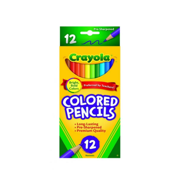 12 Pack Crayola Bold Colored Pencils